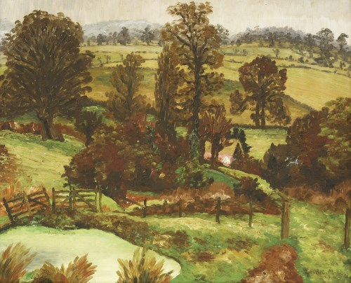 Lot 1158-*Sir Cedric Morris (1889-1982) A SUFFOLK LANDSCAPE