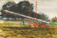 Lot 1022-*Walter Hoyle (1922-2000) A FARM WITH MACHINERY