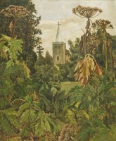 Lot 1006-*Lucie Aldridge (20th century) GREAT BARDFIELD CHURCH Signed l.l.