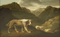 Lot 749-Samuel Raven (1775-1847) SHEEPDOG Oil on panel 17 x 23cm