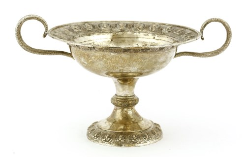 Lot 1004-An Indian silver tazza