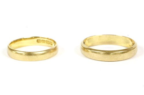Lot 13-Two 22ct gold wedding rings