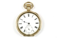 Lot 38-A rolled gold Denco open faced pocket watch