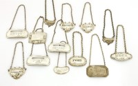 Lot 122 - A small collection of antique and modern silver wine labels