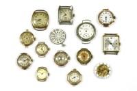 Lot 46-Fourteen various wristwatch movements