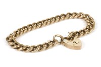 Lot 12-A 9ct gold hollow curb link bracelet