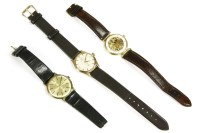 Lot 32-A gentlemen's gold plated Rotary mechanical strap watch