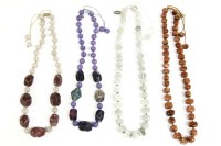 Lot 36-A Lola Rose single row synthetic goldstone bead necklace on cord