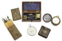 Lot 44-A Casartelli & Son gilt metal pocket barometer