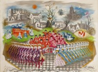 Lot 1009-*Olga Lehmann (1912-2001) THE TWELVE DAYS OF CHRISTMAS AT SAMPFORD