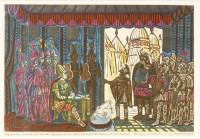 Lot 1014-*Edward Bawden RA (1903-1989) 'THE AMBASSADORS MEET HAMILCAR: THE PASS OF THE BATTLE-AXE' - AN ILLUSTRATION FOR 'SALAMMBO'