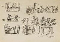 Lot 1016-*Edward Bawden RA (1903-1989) PRELIMINARY SKETCHES FOR ILLUSTRATION TO 'HISTORIES OF HERODOTUS' (Heritage Press