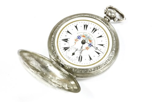Lot 9-A late 19th century silver hunter pocket watch