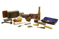 Lot 49-Collection of smoking items