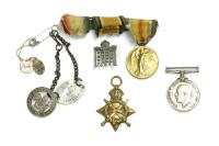 Lot 43-WWl medals: a trio to Private S.J.Jackson 16-Lond. R