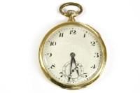 Lot 48-An 18ct gold open face pocket watch