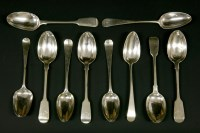 Lot 69 - A collection of silver serving spoons