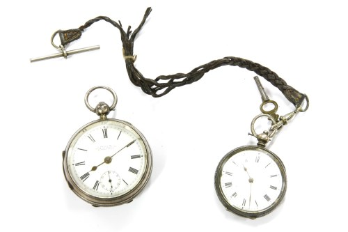 Lot 10-A Victorian silver cased open faced pocket watch