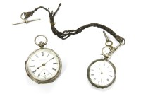 Lot 10A - A Victorian silver cased open faced pocket watch