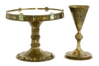 Lot 92 - An Arts and Crafts silver-plated chalice