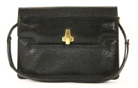 Lot 1005-A vintage Asprey of London black lizard-skin handbag