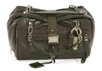Lot 1006-A Loewe 'Lola Grand' black leather handbag