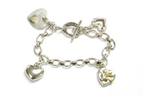 Lot 41-A Links of London silver oval link chain bracelet