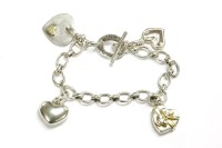 Lot 41 - A Links of London silver oval link chain bracelet