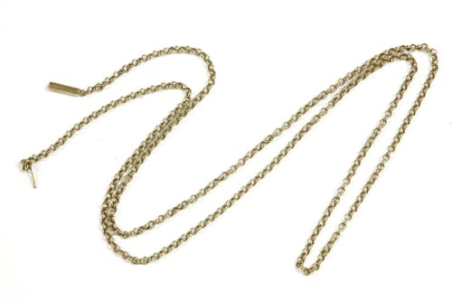 Lot 26-A gold double belcher chain with later rolled gold clasp