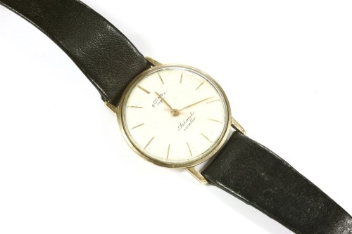 Lot 34-A 9ct gold gentlemen's Rotary Automatic strap watch