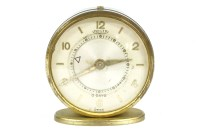 Lot 32 - A Jaeger mechanical alarm clock