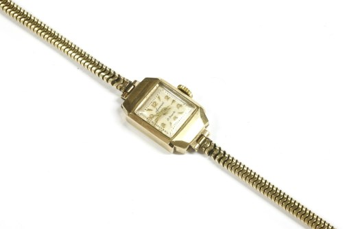 Lot 4-A ladies 9ct gold Accurist mechanical bracelet watch