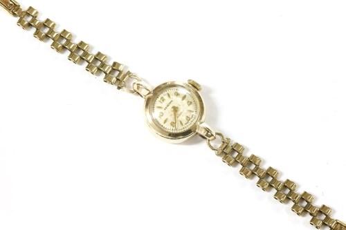 Lot 22-A ladies 9ct gold Renown mechanical bracelet watch