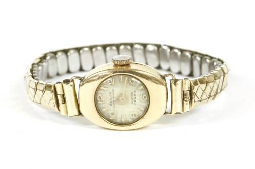 Lot 39-A ladies gold Acron mechanical bracelet watch