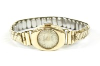 Lot 39 - A ladies gold Acron mechanical bracelet watch