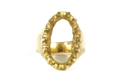 Lot 30-A gold ring mount