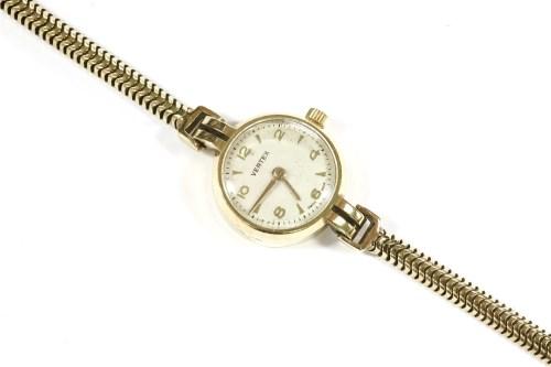 Lot 13-A ladies 9ct gold Vertex mechanical bracelet watch