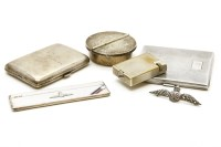 Lot 66 - A silver cigarette case