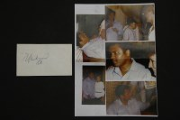 Lot 76 - A Muhammed Ali signature on white paper