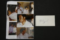Lot 77 - A Muhammed Ali signature on white paper
