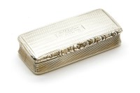 Lot 58 - A Regency silver and silver gilt interior rectangular snuff box