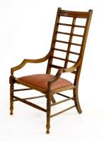 Lot 20-An Aesthetic walnut armchair