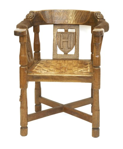 168 - A Robert 'Mouseman' Thompson monk's armchair