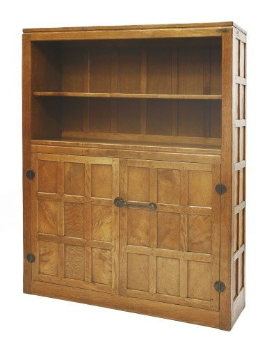 Lot 196-A Robert 'Mouseman' Thompson oak bookcase