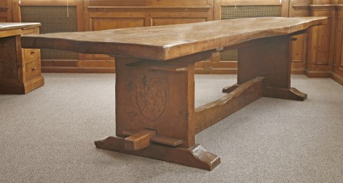 Lot 201-A Robert 'Mouseman' Thompson oak refectory table