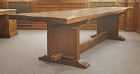 201 - A Robert 'Mouseman' Thompson oak refectory table