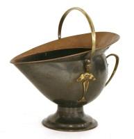Lot 86-A Benham & Froud copper and brass coal scuttle