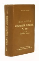 Lot 10-Wisden's Cricketers' Almanack: 1914 (51st. year). Original brown cloth. PP: iv