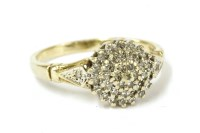 Lot 5-A 9ct gold diamond cluster ring