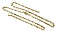 Lot 47-An Edwardian gold two row belcher chain
